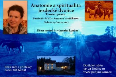Seminář: Anatomie a spiritualita jezdecké dvojice 17.6.2017